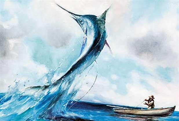 какую рыбу ловил старик и море