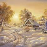 Замечательные  тренды января на фоне русской зимы