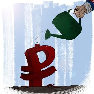 растущий рубль